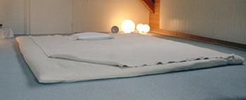 Nouvelle prestation: massage sur futon